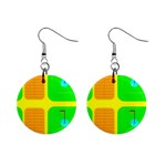 Golf Course 1  Button Earrings
