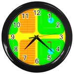 Golf Course Wall Clock (Black)