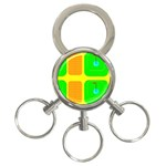 Golf Course 3-Ring Key Chain