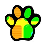 Golf Course Magnet (Paw Print)