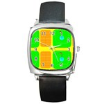 Golf Course Square Metal Watch