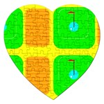 Golf Course Jigsaw Puzzle (Heart)