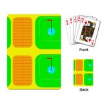 Golf Course Playing Cards Single Design