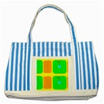 Golf Course Striped Blue Tote Bag