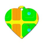 Golf Course Dog Tag Heart (One Side)