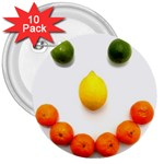 Fruit smile 3  Button (10 pack)