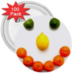 Fruit smile 3  Button (100 pack)