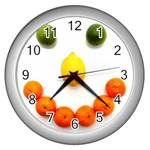 Fruit smile Wall Clock (Silver)