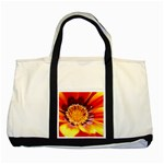 Annual Zinnia Flower   Two Tone Tote Bag