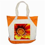 Annual Zinnia Flower   Accent Tote Bag