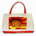 Annual Zinnia Flower   Classic Tote Bag (Red)