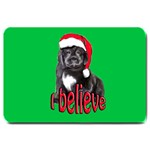 christmas newf puppy copy Large Doormat