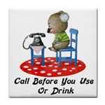 Call First Tile Coaster
