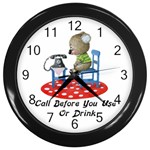 Call First Wall Clock (Black)