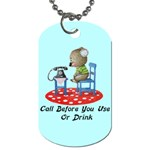 Call First Dog Tag (One Side)
