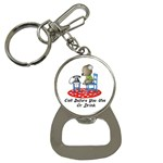 Call First Bottle Opener Key Chain