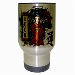 Geisha Scroll Travel Mug (Silver Gray)