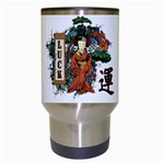 Geisha Scroll Travel Mug (White)