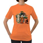 Geisha Scroll Women s Dark T-Shirt