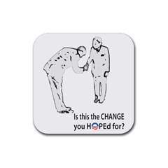 Change and Hope Rubber Coaster (Square) from ArtsNow.com Front