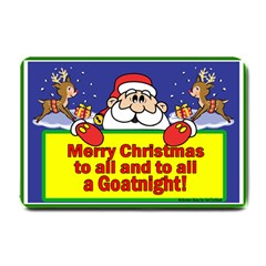 Merry Christmas GoatNight Small Doormat from ArtsNow.com 24 x16  Door Mat