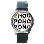 hooponopono3 Round Metal Watch