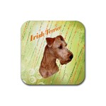 Irish Terrier Rubber Coaster (Square)