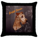 Irish Terrier Throw Pillow Case (Black)