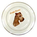 Irish Terrier Porcelain Plate