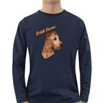 Irish Terrier Long Sleeve Dark T-Shirt