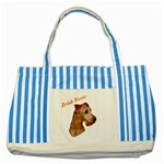 Irish Terrier Striped Blue Tote Bag