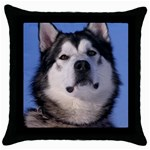 Alaskan Malamute Dog Throw Pillow Case (Black)