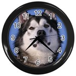 Alaskan Malamute Dog Wall Clock (Black)