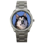 Alaskan Malamute Dog Sport Metal Watch
