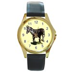 Jennyfoal Round Gold Metal Watch