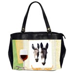 Two donks Oversize Office Handbag (Two Sides)