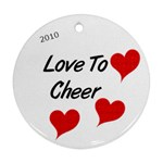 Circle ornament love to cheer