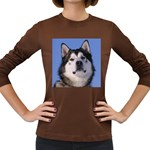 Alaskan Malamute Women s Long Sleeve Dark T-Shirt