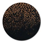 Brown Leopard Custom Round Mousepad