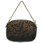 Brown Leopard Custom Chain Purse (Two Sides)