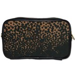 Brown Leopard Custom Toiletries Bag (Two Sides)