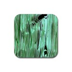 Sketched Bark Custom Rubber Square Coaster (4 pack)