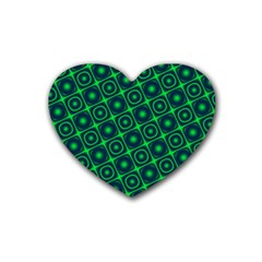Green Mirage Custom Heart Coaster (4 pack) from ArtsNow.com Front