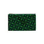Green Mirage Custom Cosmetic Bag (Small) from ArtsNow.com Front