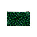 Green Mirage Custom Cosmetic Bag (Small) from ArtsNow.com Back