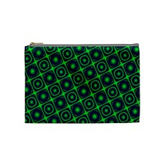 Green Mirage Custom Cosmetic Bag (Medium) from ArtsNow.com Front