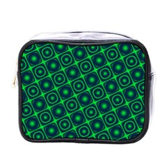 Green Mirage Custom Mini Toiletries Bag (One Side) from ArtsNow.com Front