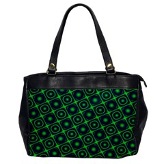 Green Mirage Custom Oversize Office Handbag (One Side) from ArtsNow.com Front