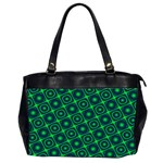 Green Mirage Custom Oversize Office Handbag (Two Sides) from ArtsNow.com Front