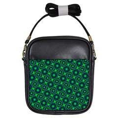 Green Mirage Custom Girls Sling Bag from ArtsNow.com Front